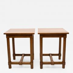 Jacques Adnet Jacques Adnet France a Pair of High End Tables - 1123059