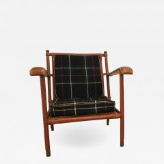 Jacques Adnet Jacques Adnet Hand Stitched Leather Lounge Chair - 1318654