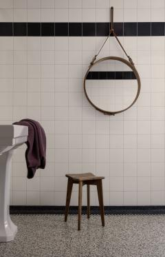 Jacques Adnet Jacques Adnet Large Circulaire Mirror with Brown Leather - 1718977