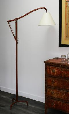Jacques Adnet Jacques Adnet Original Leather Floor Lamp - 1402881