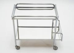 Jacques Adnet Jacques Adnet art deco mirrored bar cart trolley 1930s - 1114864