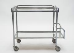 Jacques Adnet Jacques Adnet art deco mirrored bar cart trolley 1930s - 1114866
