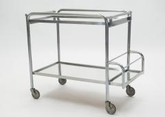 Jacques Adnet Jacques Adnet art deco mirrored bar cart trolley 1930s - 1114870
