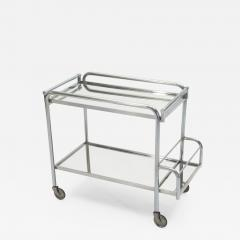 Jacques Adnet Jacques Adnet art deco mirrored bar cart trolley 1930s - 1115200