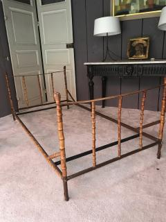 Jacques Adnet Jacques Adnet rarest full bamboo and hand stitched leather day bed - 1498988