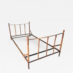 Jacques Adnet Jacques Adnet rarest full bamboo and hand stitched leather day bed - 1500363