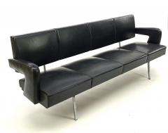 Jacques Adnet Jacques Adnet rarest set of comfy big couch and 2 chairs - 1619043