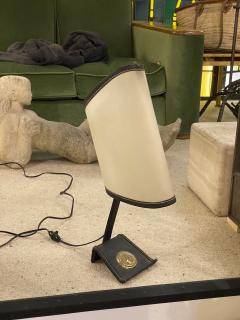 Jacques Adnet Jacques Adnet rarest table lamp in vintage condition - 1519428