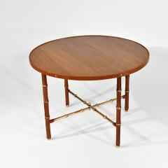 Jacques Adnet Occasional table in stitched leather - 1026295