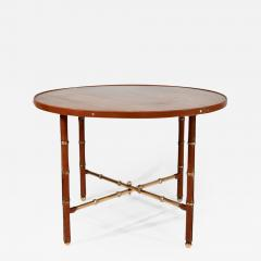 Jacques Adnet Occasional table in stitched leather - 1027447