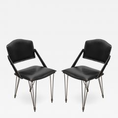 Jacques Adnet Pair oStitched Leather armchairs by Jacques Adnet - 1310358