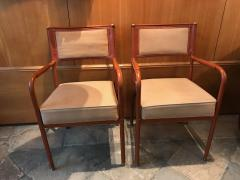 Jacques Adnet Pair of Desk Armchairs France 1950s - 2113360