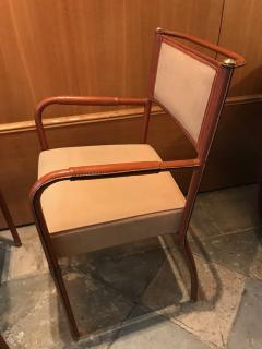 Jacques Adnet Pair of Desk Armchairs France 1950s - 2113361