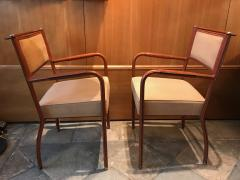 Jacques Adnet Pair of Desk Armchairs France 1950s - 2113362