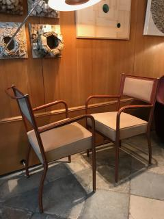Jacques Adnet Pair of Desk Armchairs France 1950s - 2113364