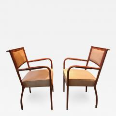 Jacques Adnet Pair of Desk Armchairs France 1950s - 2116230