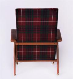 Jacques Adnet Pair of Fabric and Leather Armchairs - 894040