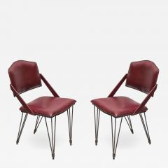 Jacques Adnet Pair of Stitched Leather armchairs By Jacques Adnet - 1310359