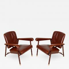Jacques Adnet Pair of armchairs - 732055