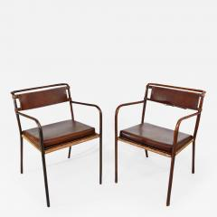 Jacques Adnet Pair of armchairs - 1987645