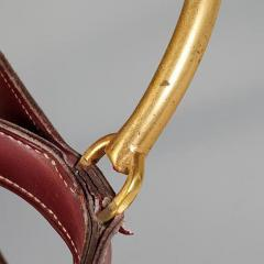 Jacques Adnet RARE RED STITCHED LEATHER EQUESTRIAN DECANTER SET BY JACQUES ADNET FOR HERMES - 1911385