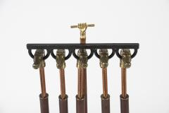 Jacques Adnet Rare Fireplace tools by Jacques Adnet - 1126383