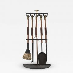 Jacques Adnet Rare Fireplace tools by Jacques Adnet - 1127090