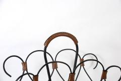 Jacques Adnet Rare Stitched leather magazines rack by Jacques Adnet - 1182896
