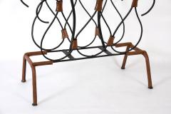 Jacques Adnet Rare Stitched leather magazines rack by Jacques Adnet - 1182898