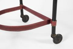 Jacques Adnet Rare Willing table in Stitched leather By Jacques Adnet - 1126887