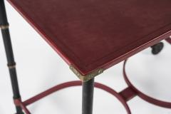 Jacques Adnet Rare Willing table in Stitched leather By Jacques Adnet - 1126889