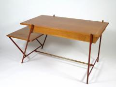 Jacques Adnet Rare asymmetrical desk - 1986430