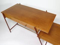 Jacques Adnet Rare asymmetrical desk - 1986432