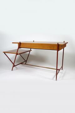 Jacques Adnet Rare asymmetrical desk - 1986434