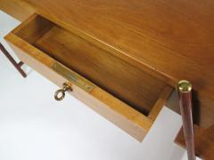 Jacques Adnet Rare asymmetrical desk - 1986436