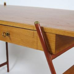 Jacques Adnet Rare asymmetrical desk - 1986438