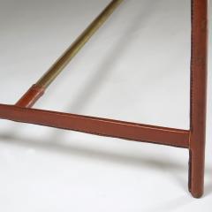 Jacques Adnet Rare asymmetrical desk - 1986442