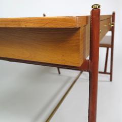 Jacques Adnet Rare asymmetrical desk - 1986443