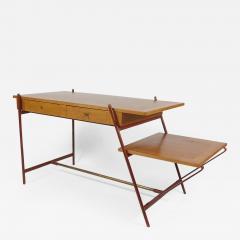 Jacques Adnet Rare asymmetrical desk - 1987644
