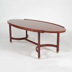 Jacques Adnet Rare oval coffee table - 2089950