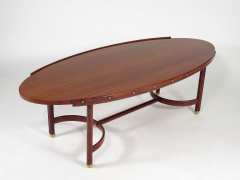 Jacques Adnet Rare oval coffee table - 2089953