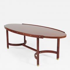 Jacques Adnet Rare oval coffee table - 2090399