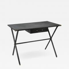Jacques Adnet Rare stitched Leather Desk By Jacques Adnet - 1035552