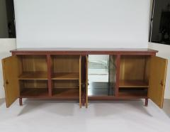 Jacques Adnet Rare stitched leather sideboard - 1191983