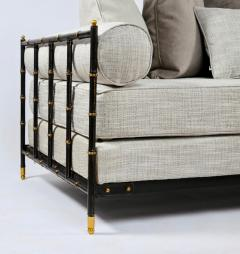Jacques Adnet Saddle stitched black leather daybed Jacques Adnet Compagnie des Arts Fran ais - 1806836