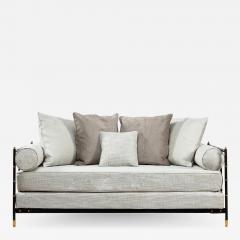 Jacques Adnet Saddle stitched black leather daybed Jacques Adnet Compagnie des Arts Fran ais - 1807691