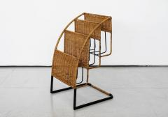 Jacques Adnet WICKER MAGAZINE RACK ATTRIBUTED TO JACQUES ADNET - 1068087