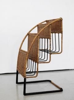 Jacques Adnet WICKER MAGAZINE RACK ATTRIBUTED TO JACQUES ADNET - 1068090