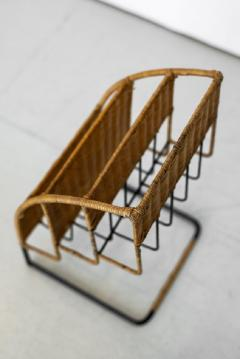 Jacques Adnet WICKER MAGAZINE RACK ATTRIBUTED TO JACQUES ADNET - 1068091