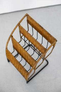 Jacques Adnet WICKER MAGAZINE RACK ATTRIBUTED TO JACQUES ADNET - 1068092
